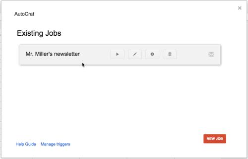 newsletter existing jobs
