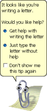 "Clippit (often called ""Clippy,"" the Microsoft Office Assistant. (Used with permission from Microsoft.)"
