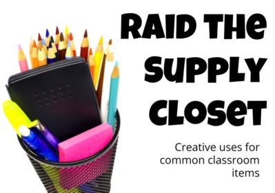 Common classroom supplies can turn a boring activity into something magical with a little creativity. Here are some ideas to kick your school supplies game up a notch.