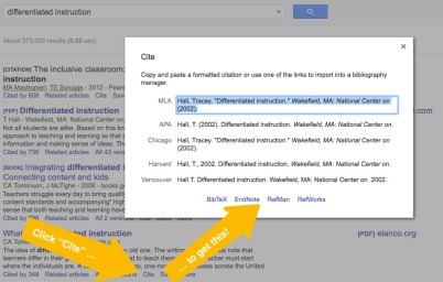 google scholar cite