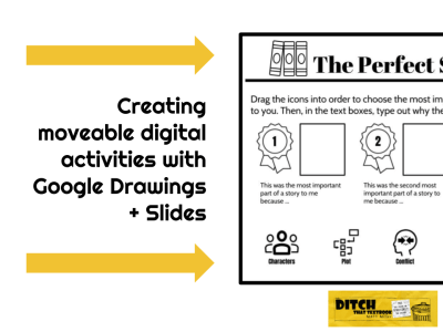 Creating moveable digital activities with Google Drawings + Slides and icons from the noun project