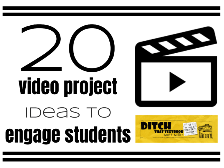 20 video project ideas to engage students | Ditch That Textbook