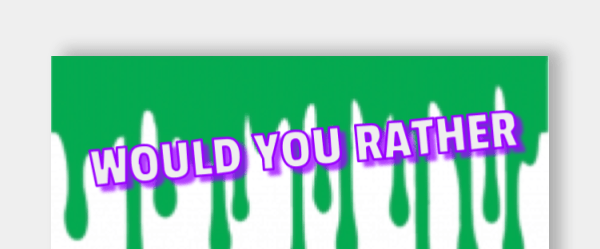 Free Google Slide Template to Create a Would You Rather Activity