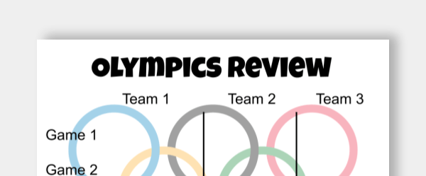 olympics review leaderboard template