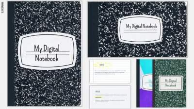 Digital Notebooks for Google Slides or PowerPoint