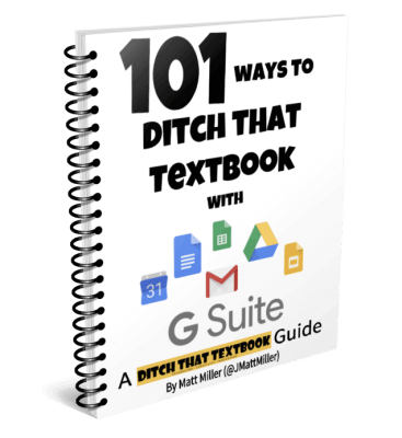 101 ways to Ditch That Textbook with G Suite ebook cover