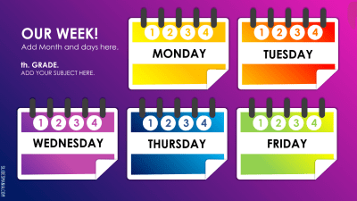 Weekly Planner for Online Lessons · SlidesMania