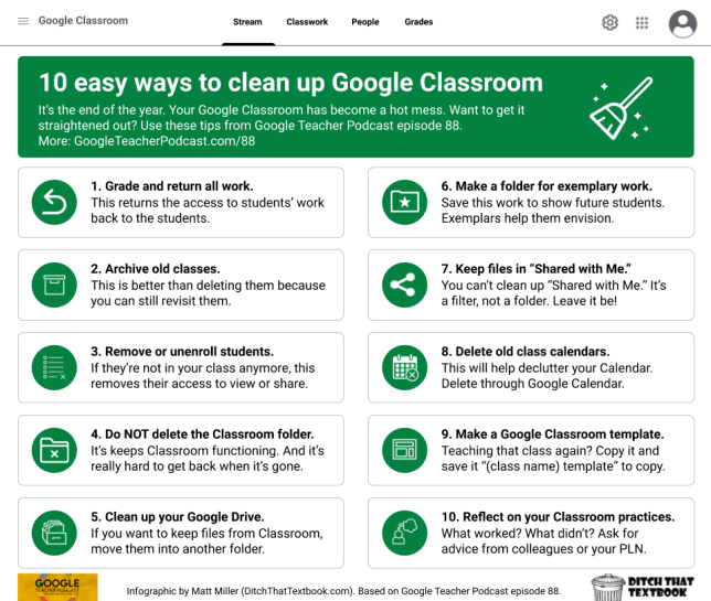 10 google classroom clean up tips
