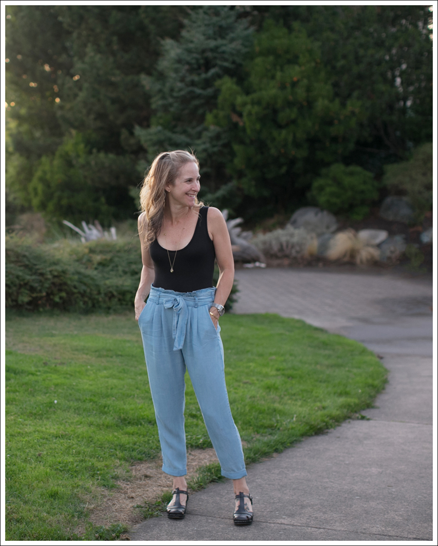 Bodysuits High Waisted Chambray Pants Clogs Jammies