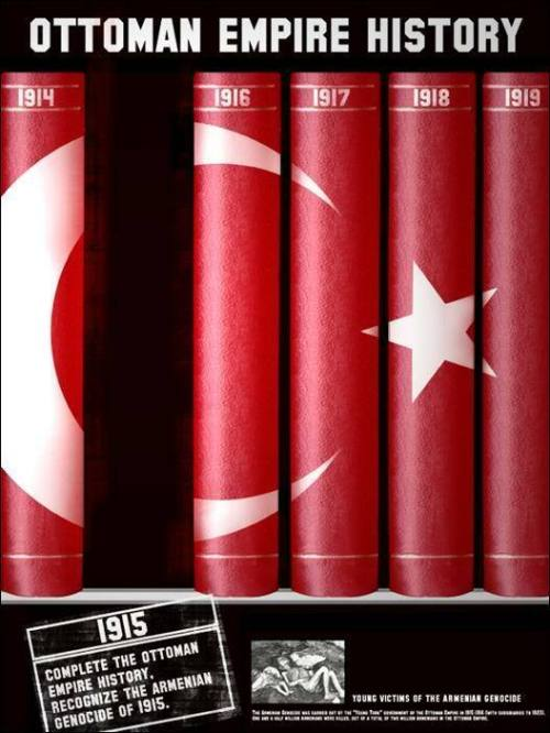 Poster calling for Turkey to recognize the Armenian Genocide of 1915
