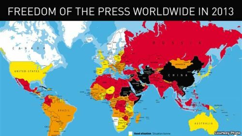 2013 Reporters Without Borders World Press Freedom Index