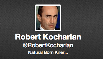 Twitter user Robert Kocharian