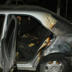Armenia -- A car belonging to a member of PreParliament burnt down in an arson attack, Yerevan, 27Nov2014