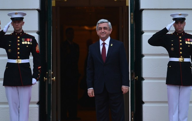 USA -- Armenian President Serzh Sargsyan visits the White House, Washington D.C., 31Mar2016