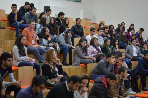 Armenia -- The big hall of Barcamp Vanadzor, 06Nov2016