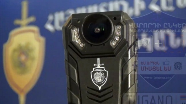 Portable cameras worn by Traffic Police officers in Armenia