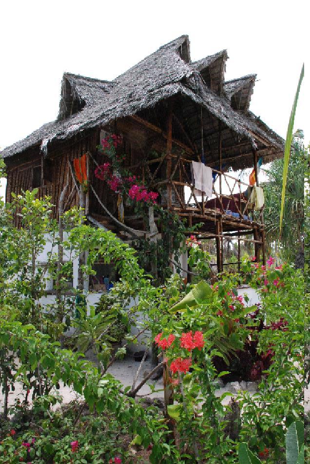 Mitt stråhus på Zanzibar
