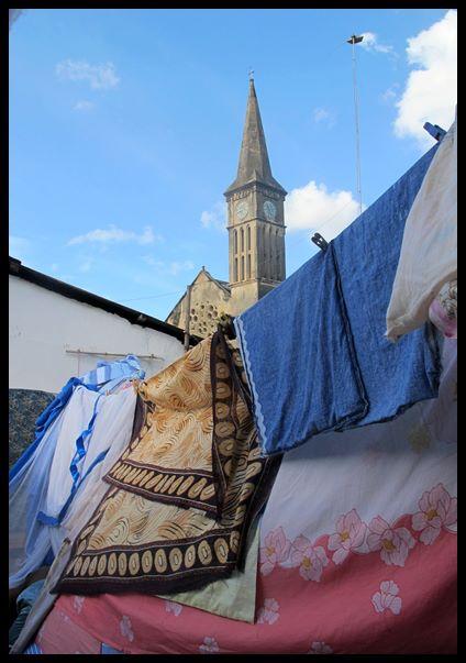 Klesvasken min i en leid leilighet i Stone Town, Zanzibar