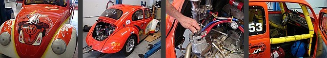 red vw race car photo collage