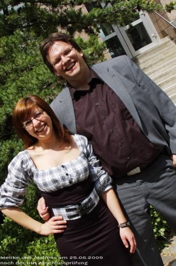 Melike und Andreas am 25.06.2009 zur IHK-Abschlussprüfung