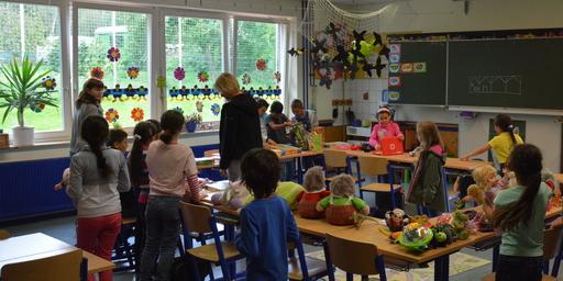 Spielzeugspende an der Burgwaldschule