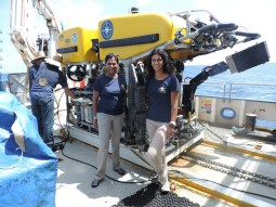 Dr. Gobin and I with ROV Hercules.