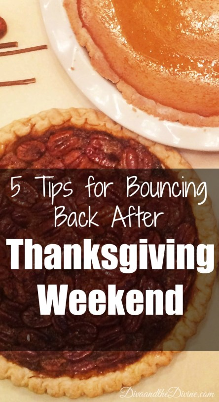 Tips for getting back on track after eating all those treats on Thanksgiving weekend. Win the week after Thanksgiving