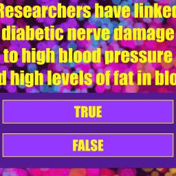 Diabetic Nerve Damage True or False