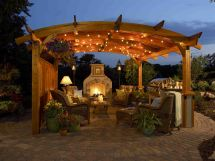 Outdoor Fireplace and Pergola