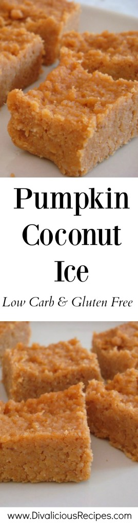 pumpkin coconut ice