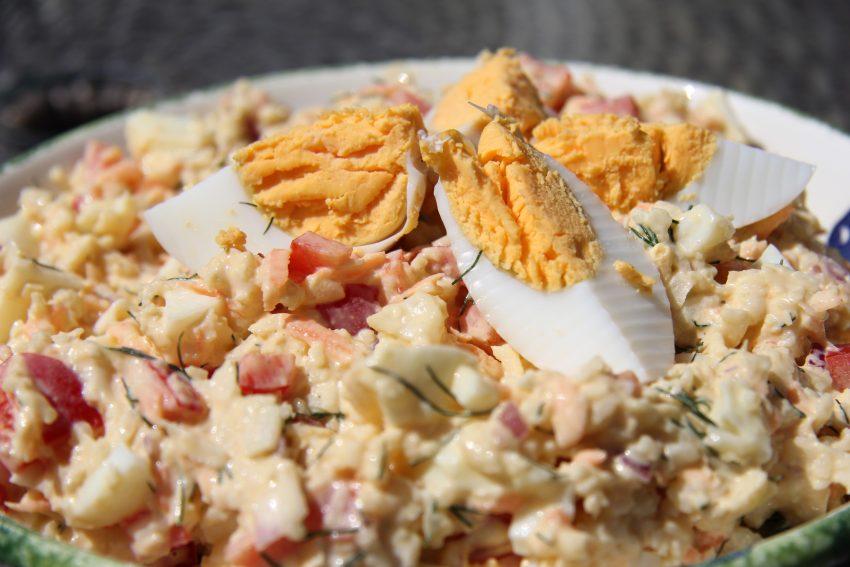 cauliflower egg salad
