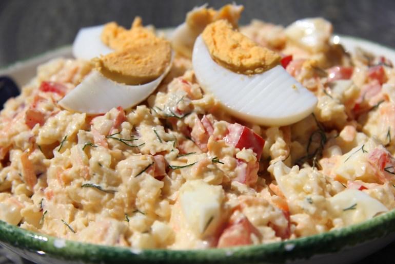cauliflower & egg salad