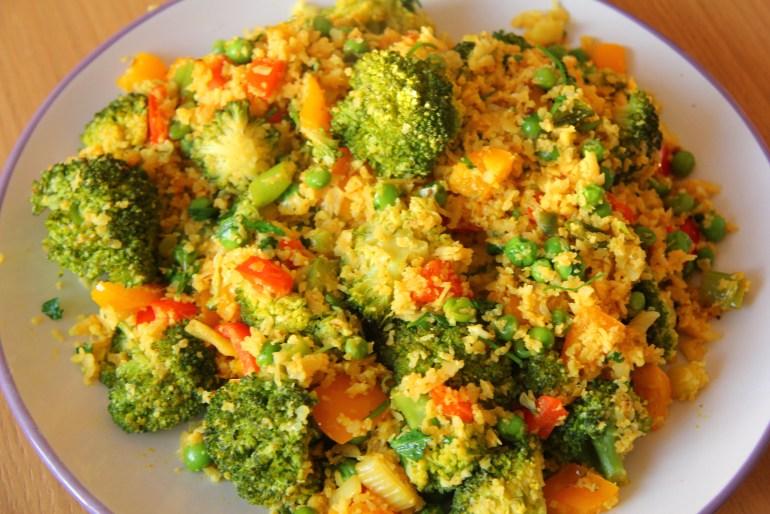 Yummy veggies in cauliflower rice