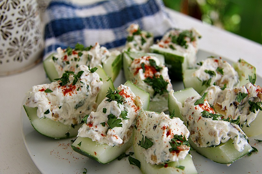 Stuffed cucumber