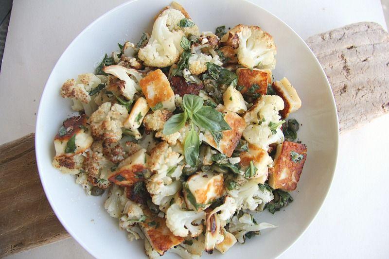 Cauliflower Halloumi