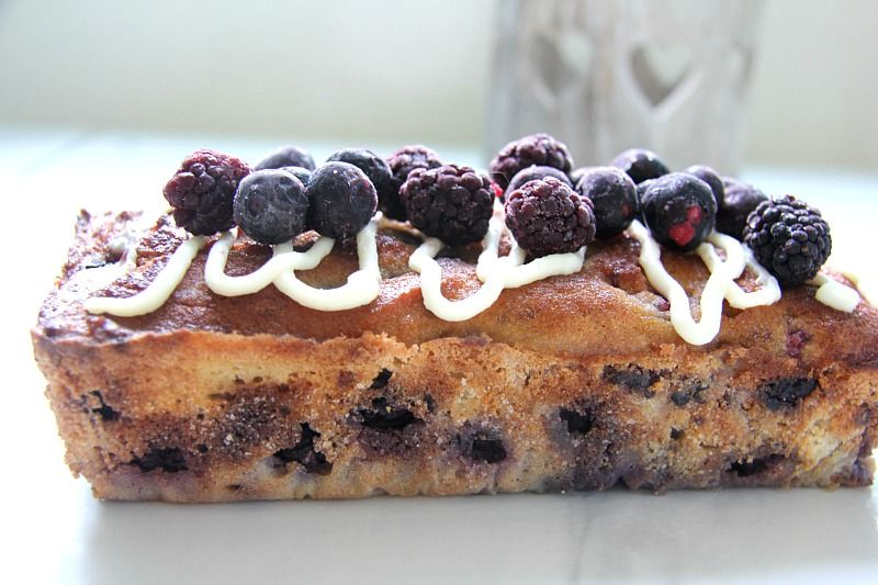 Mixed Berry Loaf Cake