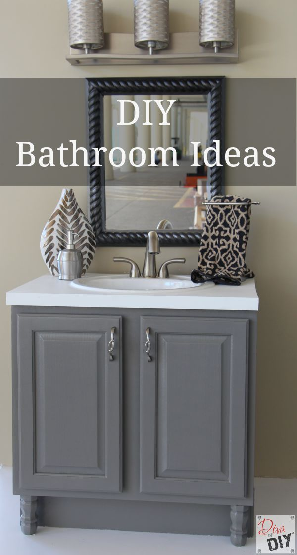 4 DIY Bathroom Ideas that are Quick and Easy l Diva of DIY