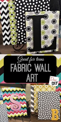 How to Create Beautiful Fabric Wall Art on a Dime | Diva ...