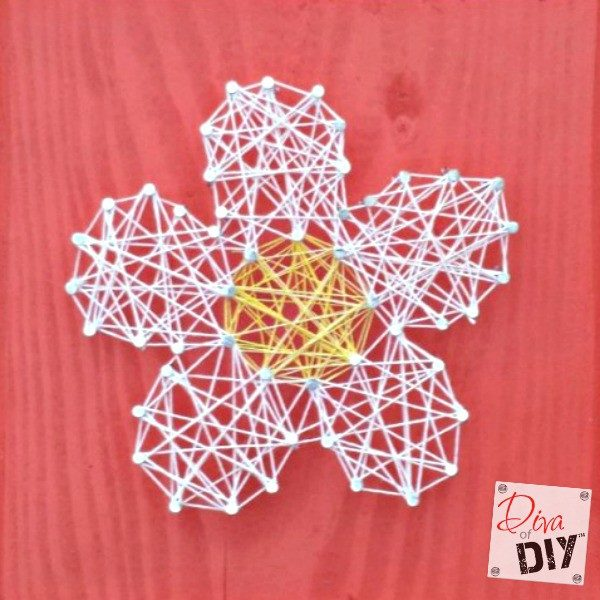 Easy And Inexpensive String Art Valentines Day Craft