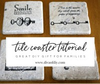 How to Make DIY Coasters Using Tiles | Diva of DIY