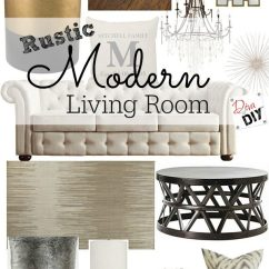 Rustic Contemporary Living Room Rooms To Go Furniture Sale Modern Design Diva Of Diy Clean Lines Combined With Charm Describes My Yes You Can