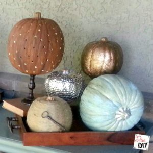 dollar tree pumpkin chair covers hanging ceiling diy holidays diva of store how to make it fabulously metallic