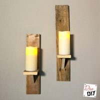 How To Make DIY Candle Holders From Pallet Wood | Diva of DIY