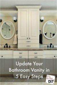 Update Your Bathroom Vanity in 5 Easy Steps | Diva of DIY