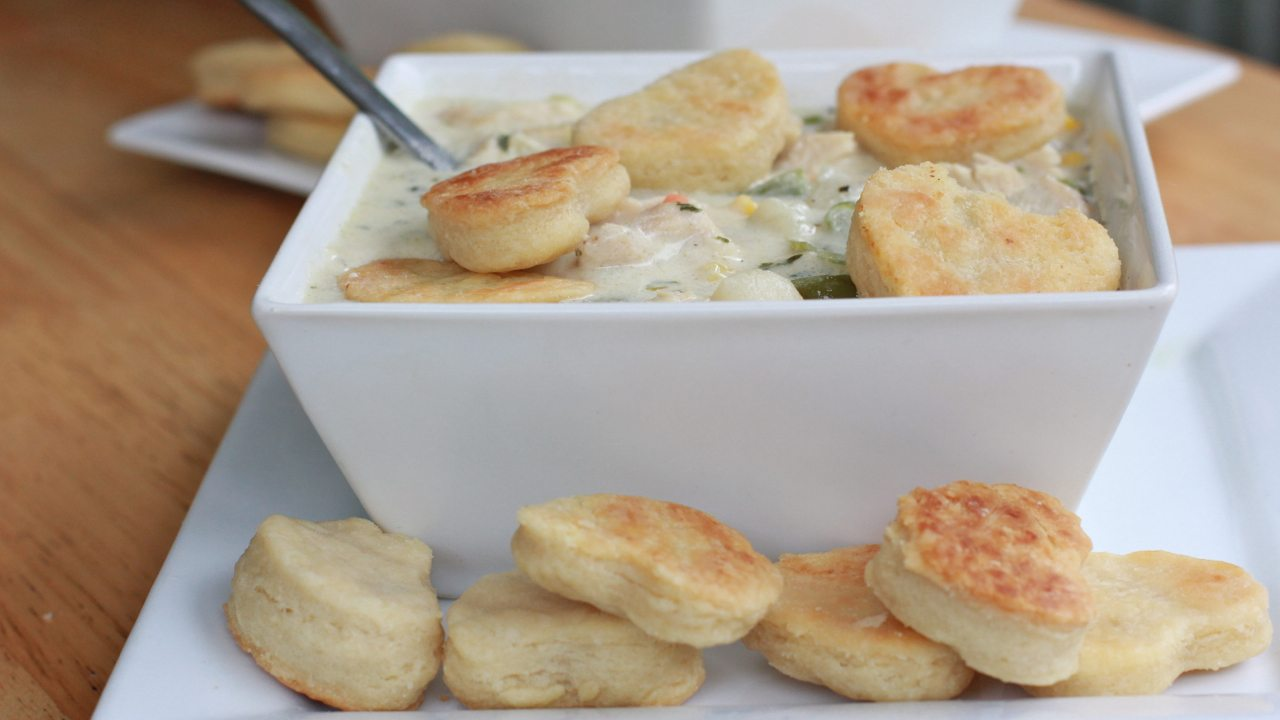 watch me make this easy chicken pot pie soup from start to finish