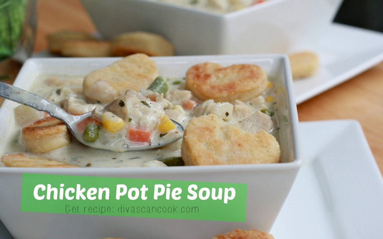 easy creamy homemade chicken pot pie soup recipe full of