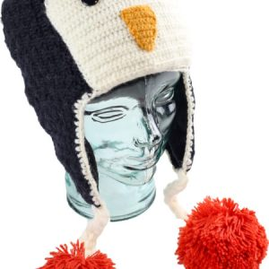 Penguin Hat, Unisex Alpaca Blend Animal Hats for the whole family