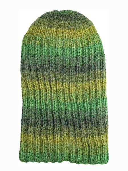 Awana Hat 100% Alpaca, Green, winter Hats for the whole family