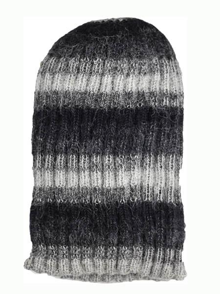 Awana Hat 100% Alpaca, Grey, winter Hats for the whole family