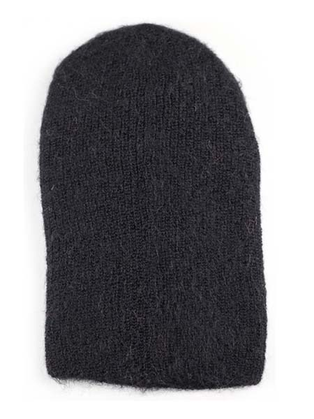 Milkshake Hat 100% Alpaca, Black, winter Hats for the whole family